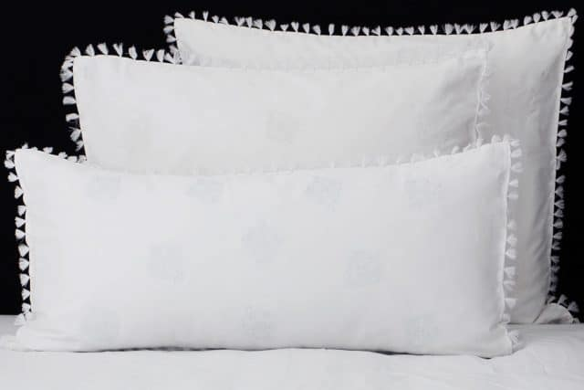 "Set Pillow Covers ""Mix and Match Tassels White"""