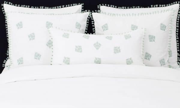 "Set Pillow Covers ""Mix and Match Tassels Jade"""