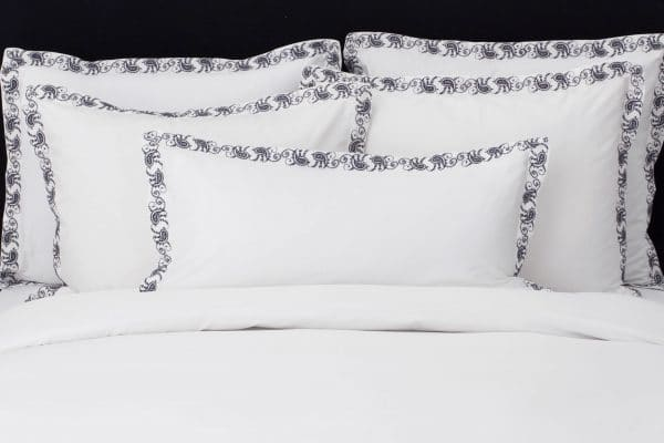 "Set Pillow Covers ""Mix and Match Paisly Charcoal"""