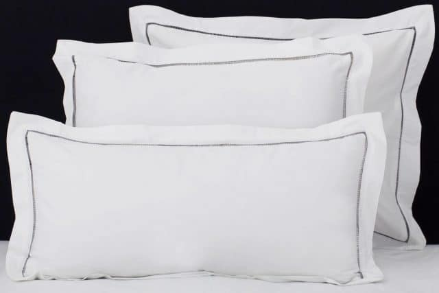 "Set Pillow Covers ""Mix and Match Hemstitch Gray"""