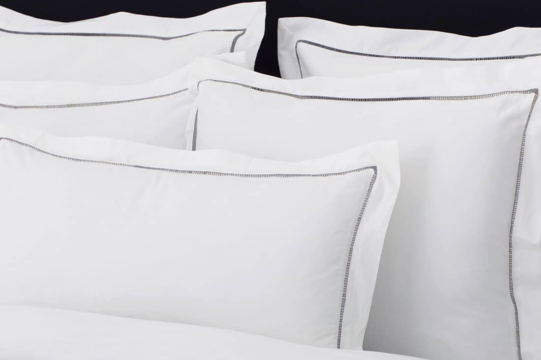 "Set Pillow Covers ""Mix and Match Hemstitch Grey"""