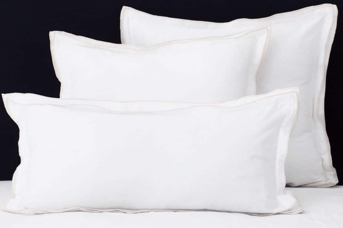 """Set Pillow Covers """"Triple Ivory"""""""