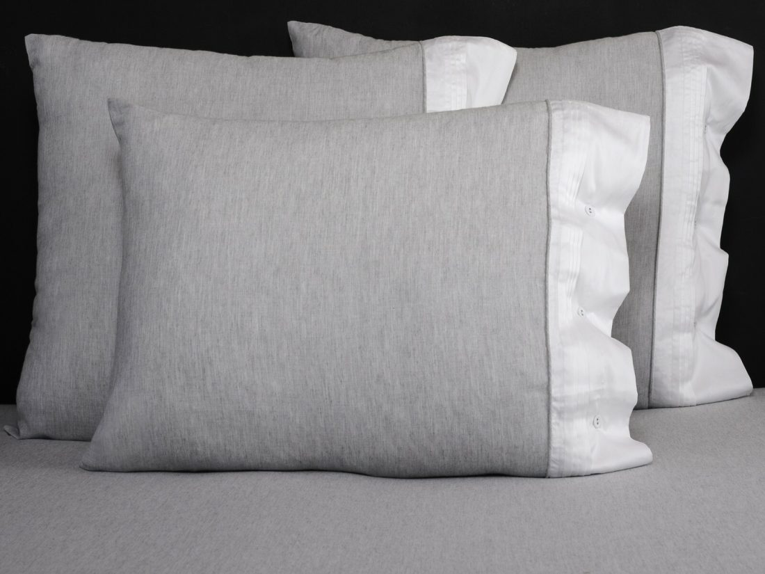 Fitted sheet Gray Cotton