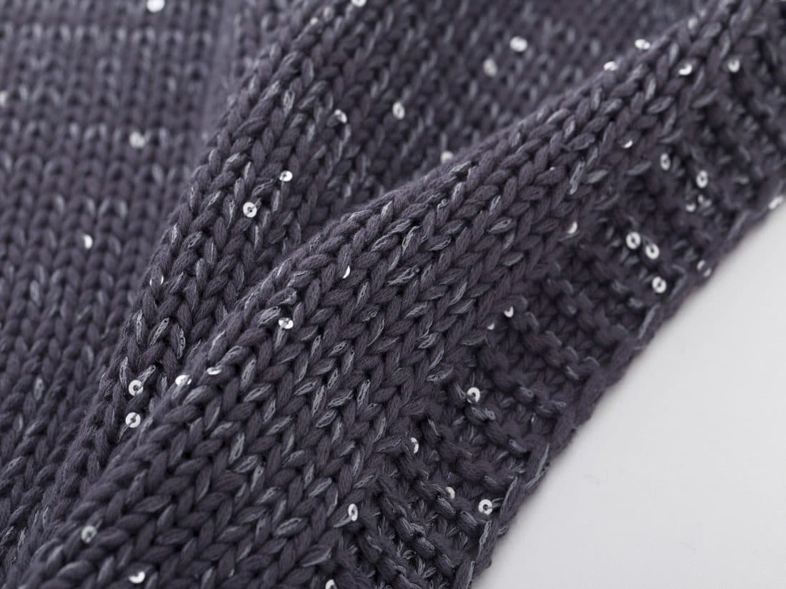 Plaid 8211 Knitted Glitter Charcoal