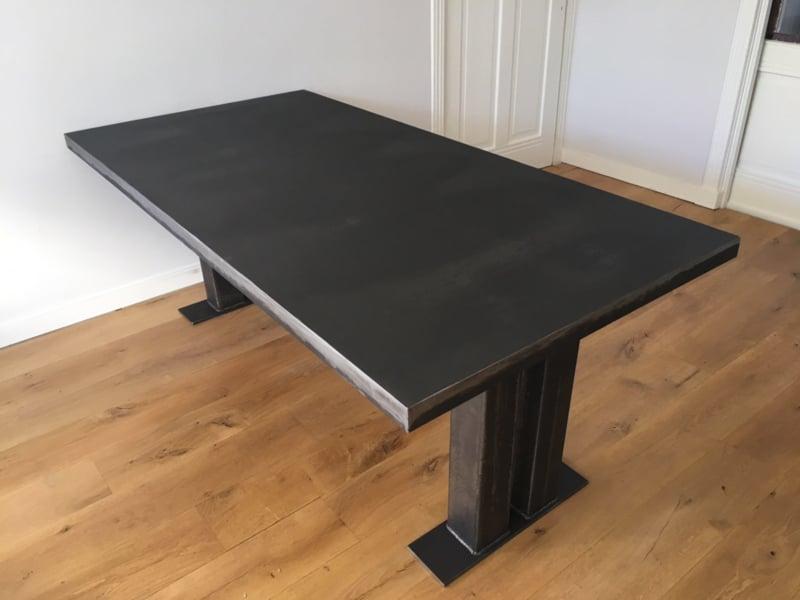 Metal table Turek vintage dark black