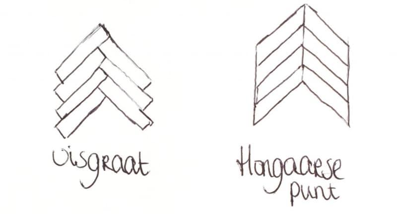 herringbone and hungarian point