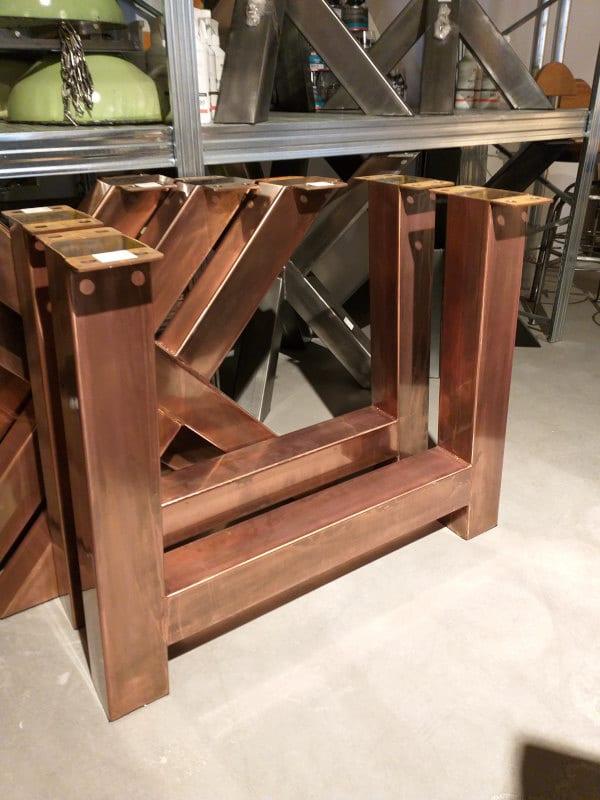 Metall Trapezbeine Set aus Kupfer 8X4, 10X10, 12X12 cm