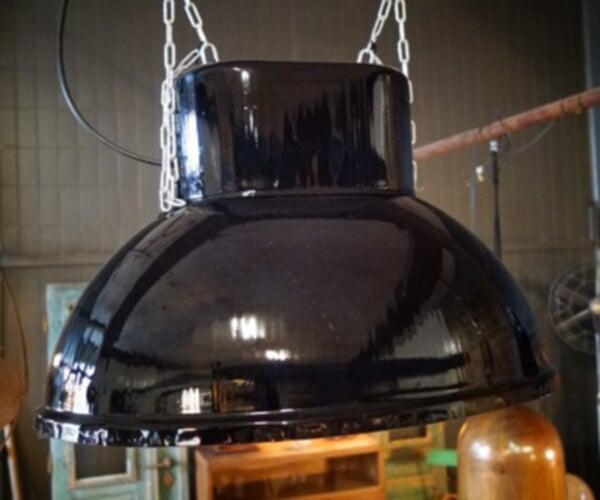 Industriële lamp ovaal half gepolijst RAL kleur