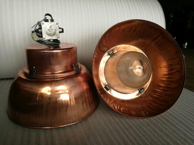 Industriële lamp koper