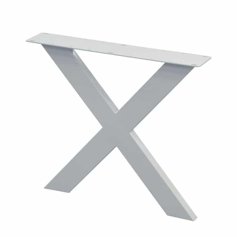 Metalen X poot wit