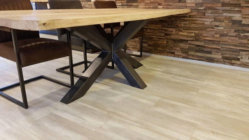 Dining table with matrix base