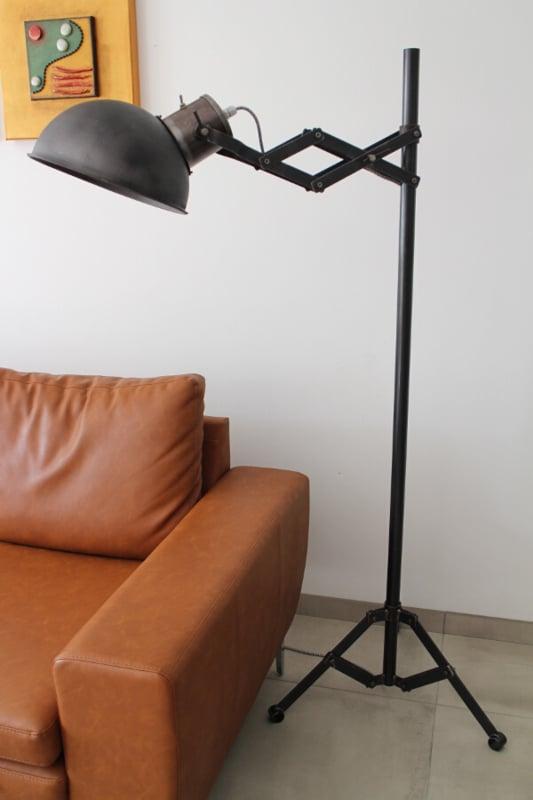 industriële vloerlamp zwart
