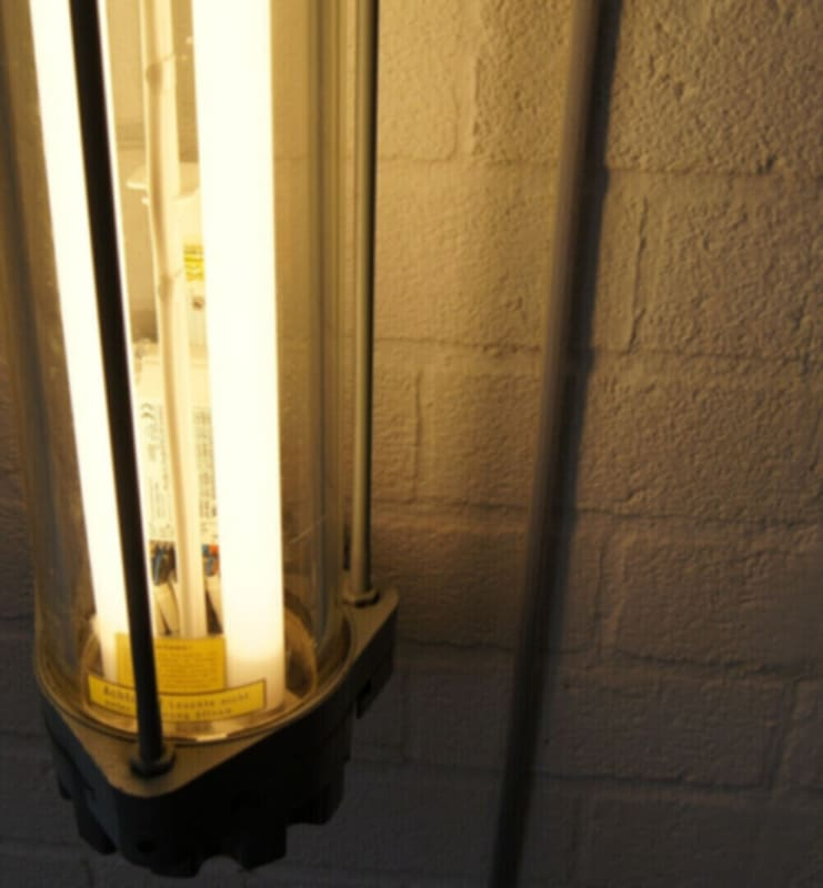 Industriële TL lamp met LED buizen
