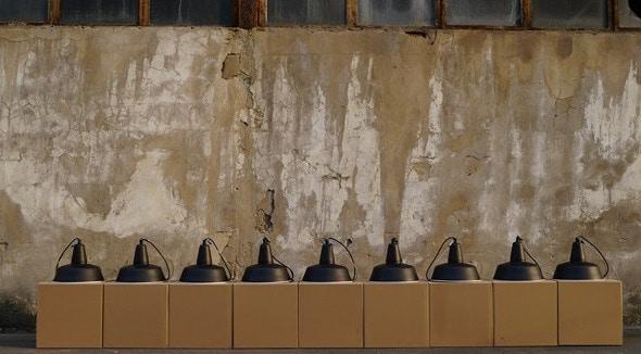 Industriële eettafel hanglamp Enamel in elke kleur mogelijk