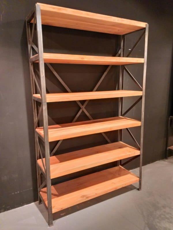 Industrial bookcase Gdansk 6 shelves