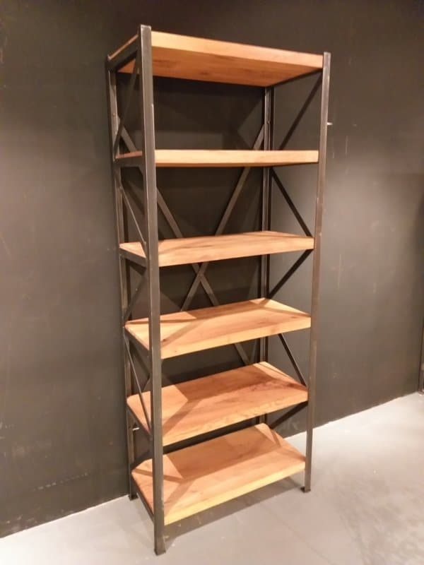 Industrial bookcase Gdansk front view