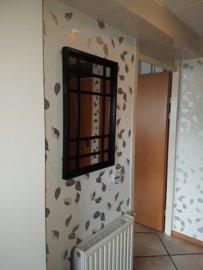 Wandspiegel Mizary Industrial mit Stahlrautenmuster