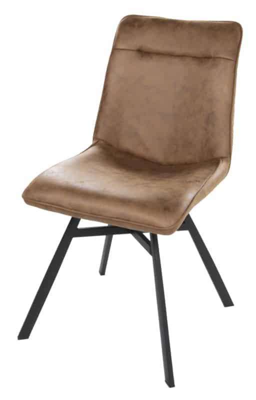Esszimmerstuhl mit schwarzen Beinen