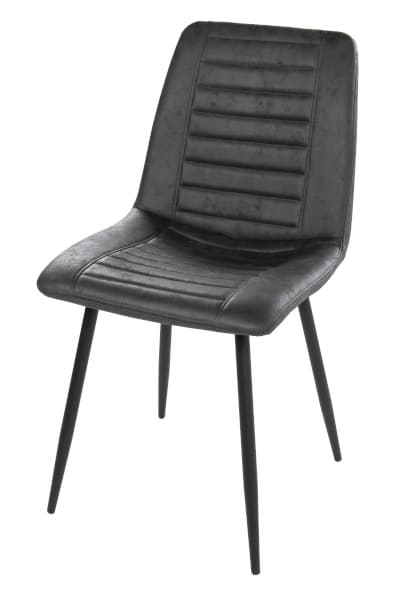 Black chair with black legs