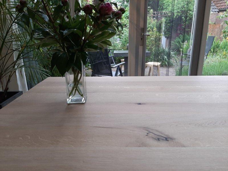 Eiken tafel Rewa vierkant incl matrix onderstel