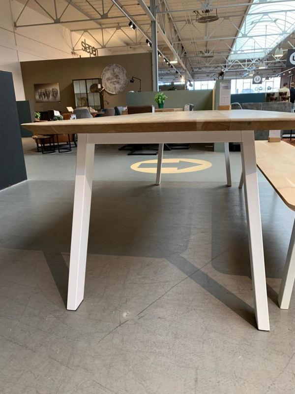 dining table rectangle white base