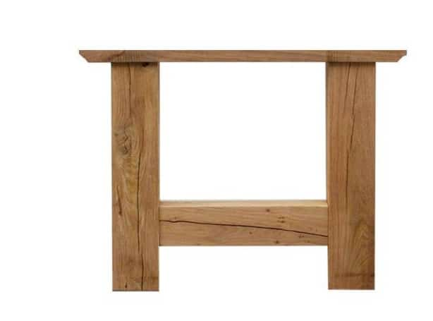 Wooden frame dining table H