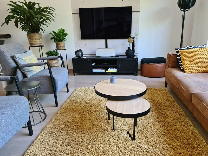 Oak coffee table Nysa set 2 and 4 centimeters thick