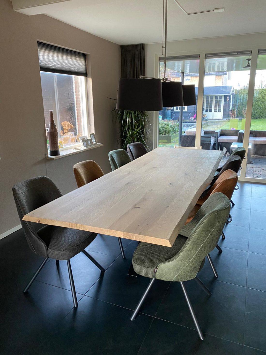 Eichenstamm Katy Tischplatte Square 4 5cm dick Ohne Rahmen