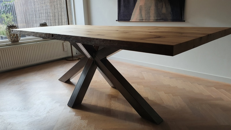 dining table rectangle black matrix base