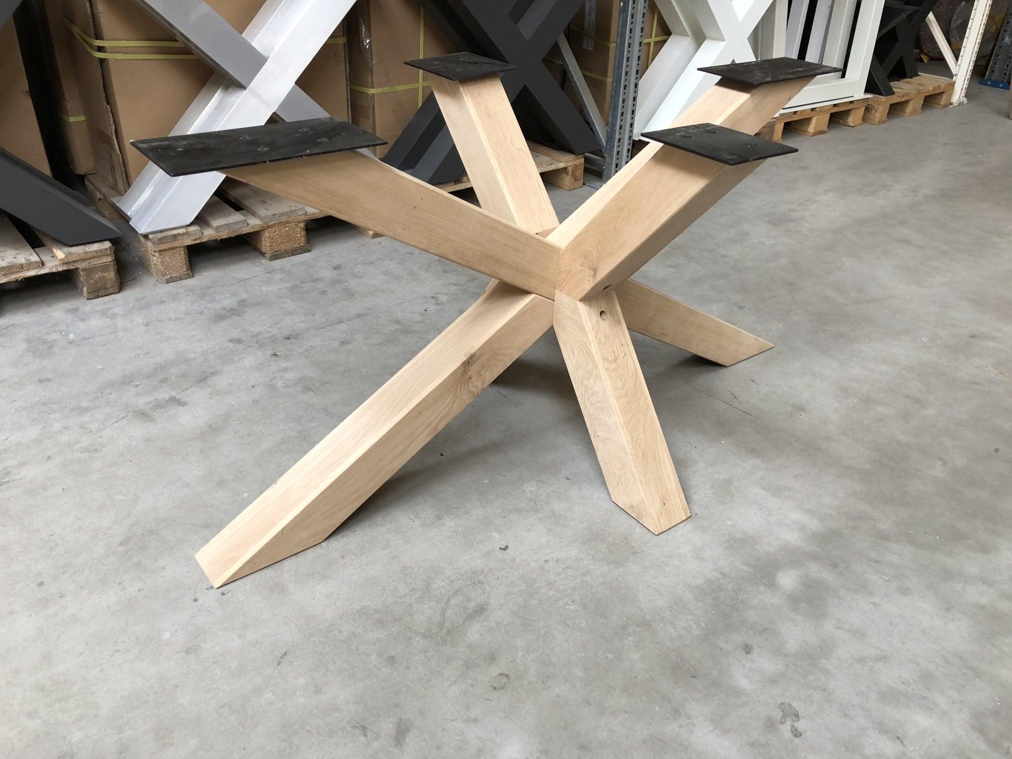 Matrix Eiken Onderstel Voor Rechthoekige En Ovale Tafels