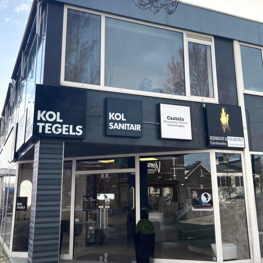 Gevel Kol Tegels & Sanitair Showroom Haarlem