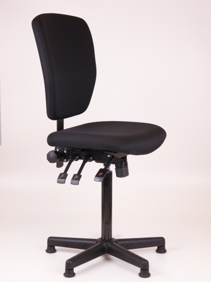 Kassastoel Oasis hoog kunststof voetenkruis
