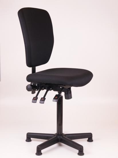 Kassastoel Oasis laag kunststof voetenkruis