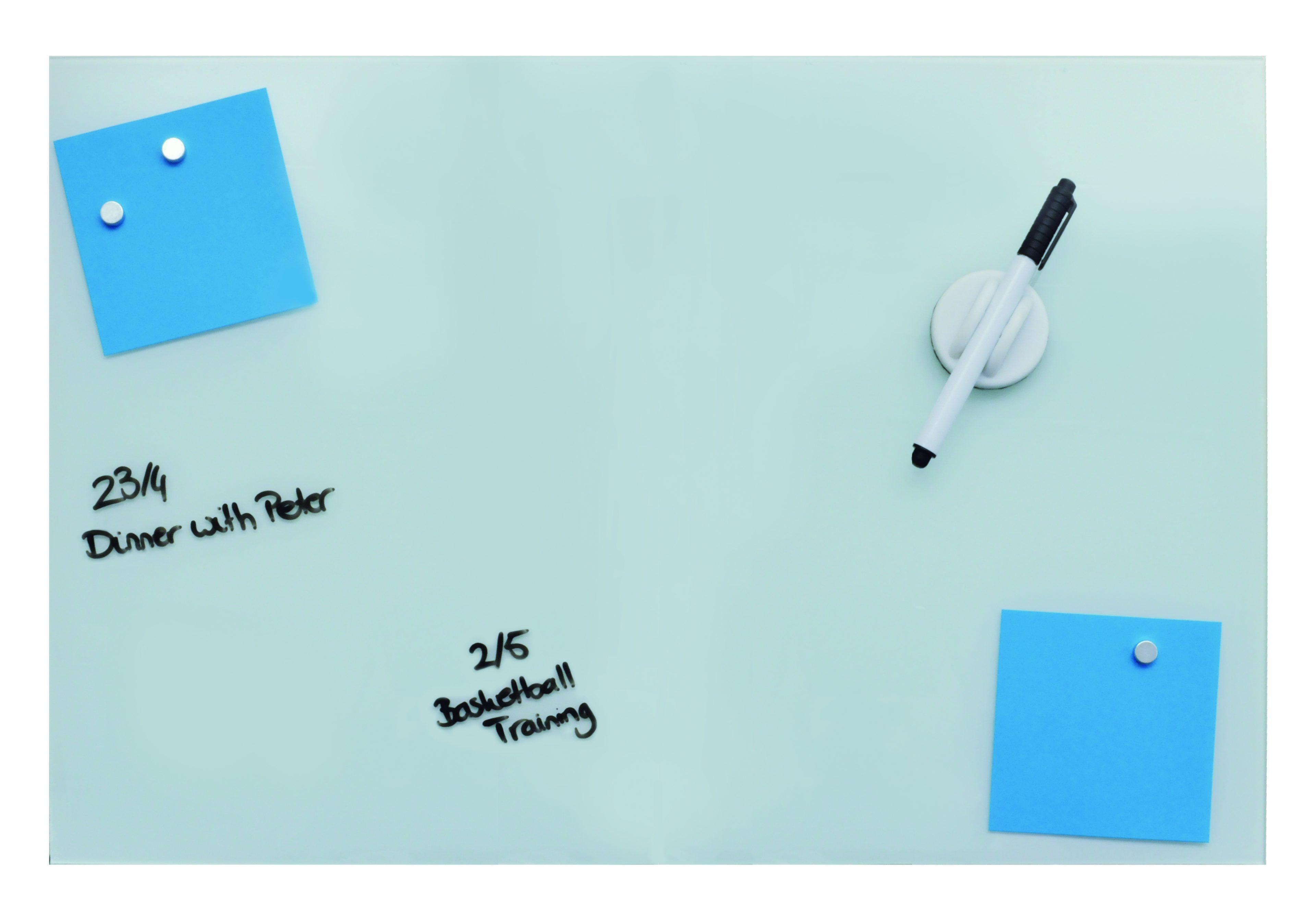 Magnetisch glasbord wit 40x60 cm