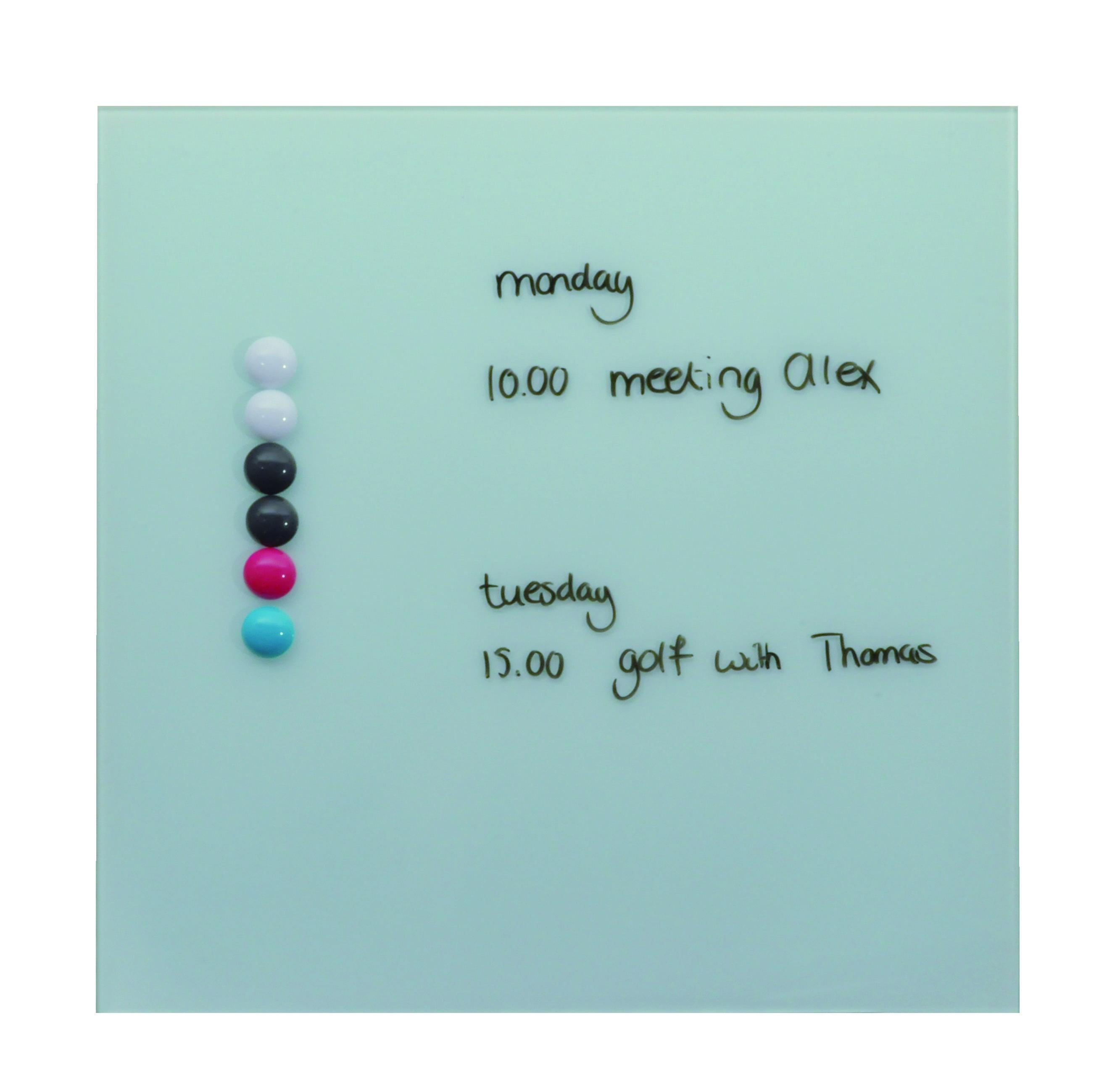 Magnetisch glasbord wit 35x35 cm