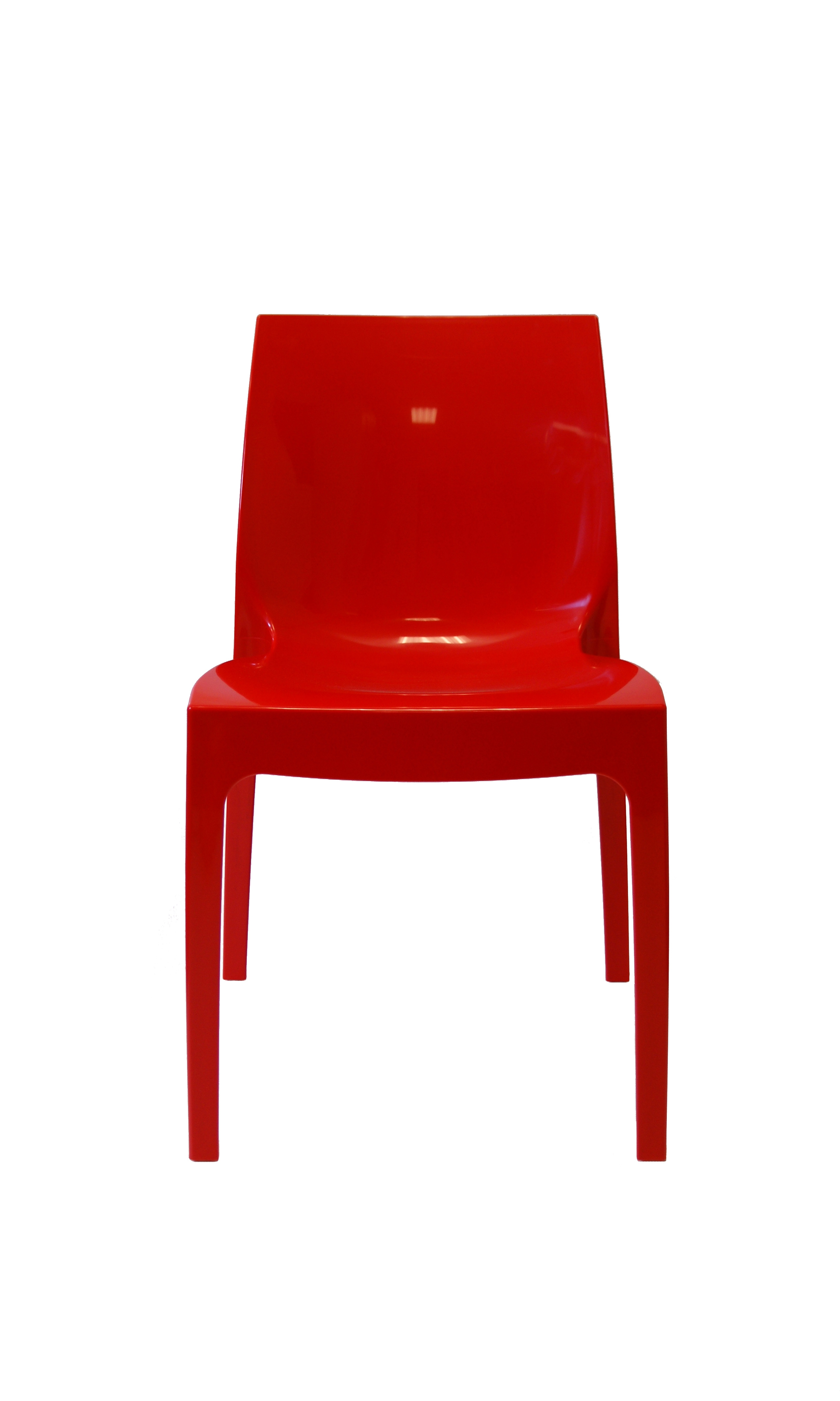 Kunststof stoel glossy rood