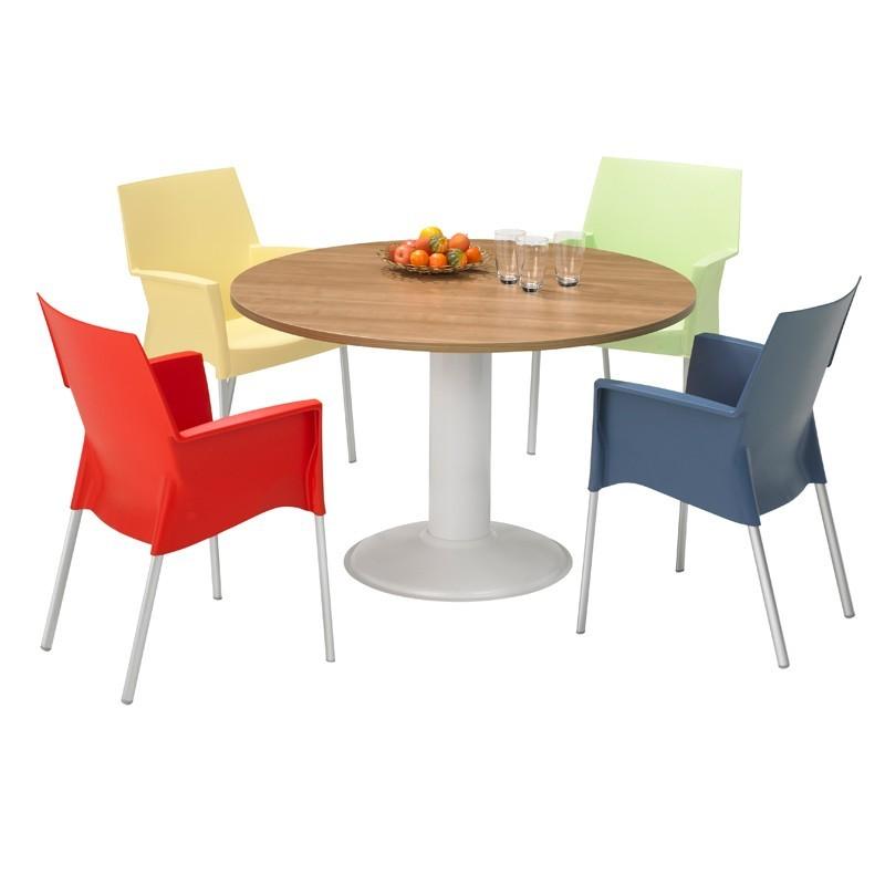 Ronde tafel met kolompoot voorbeeld