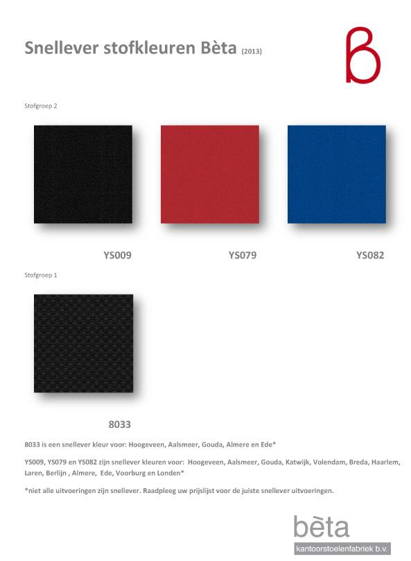 Stoffenkaart snellever kleuren