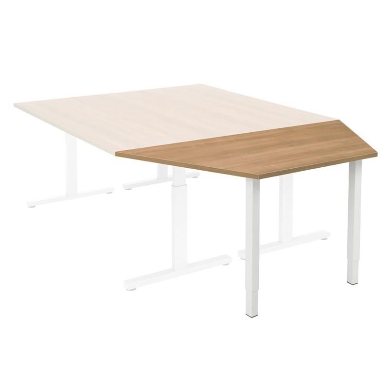Trapeziumtafel Pinta 160x80 cm