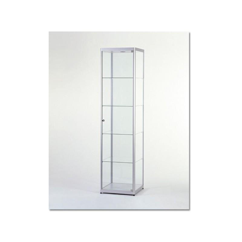 Vitrinekast 200x50x50 cm Blank geanodiseerd