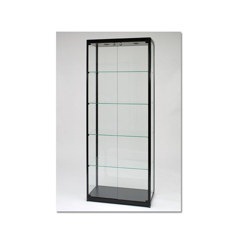 Vitrinekast 200x80x40 cm Zwart