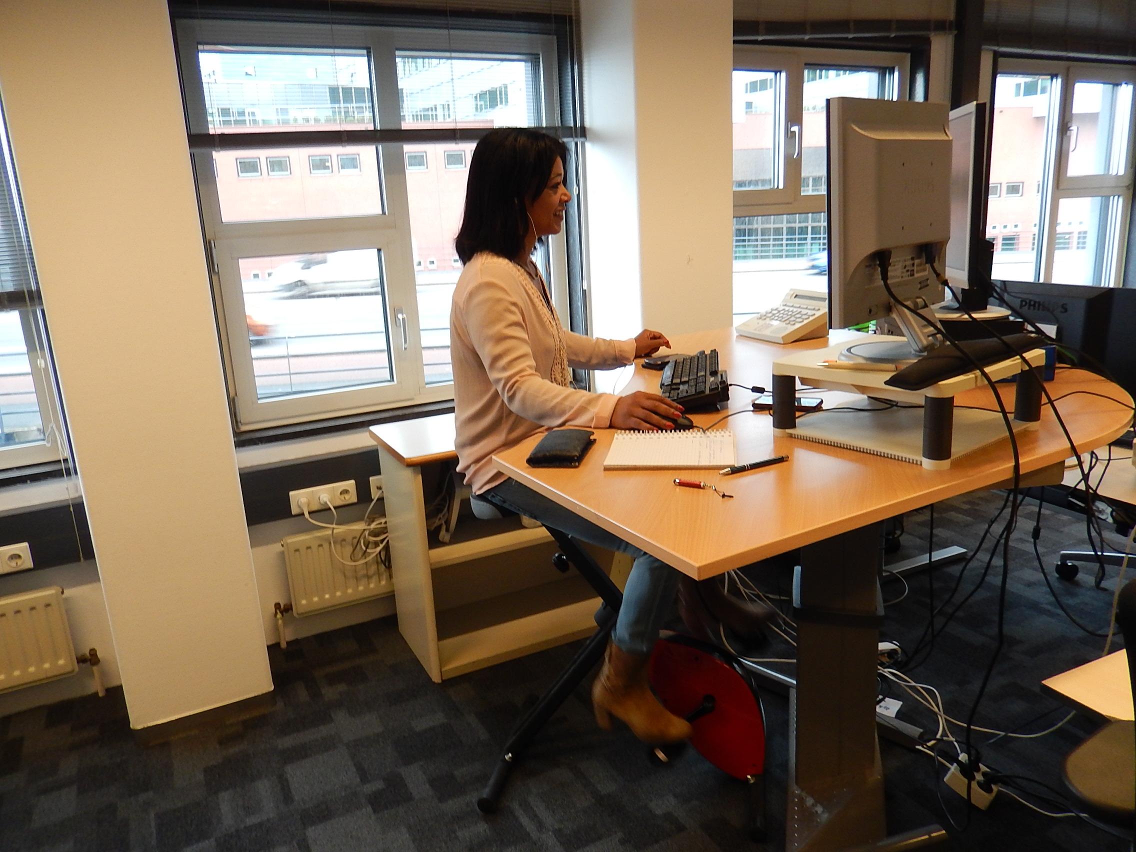 Deskbike in de praktijk