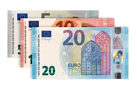 Geschikt voor de nieuwe eurobiljetten