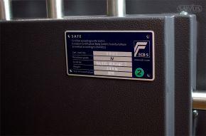Salvus Bergamo detail label