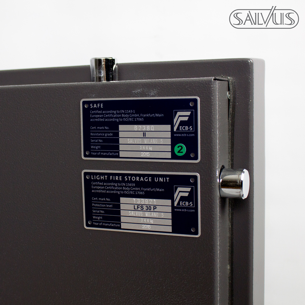 Salvus Milano ECB-S labels