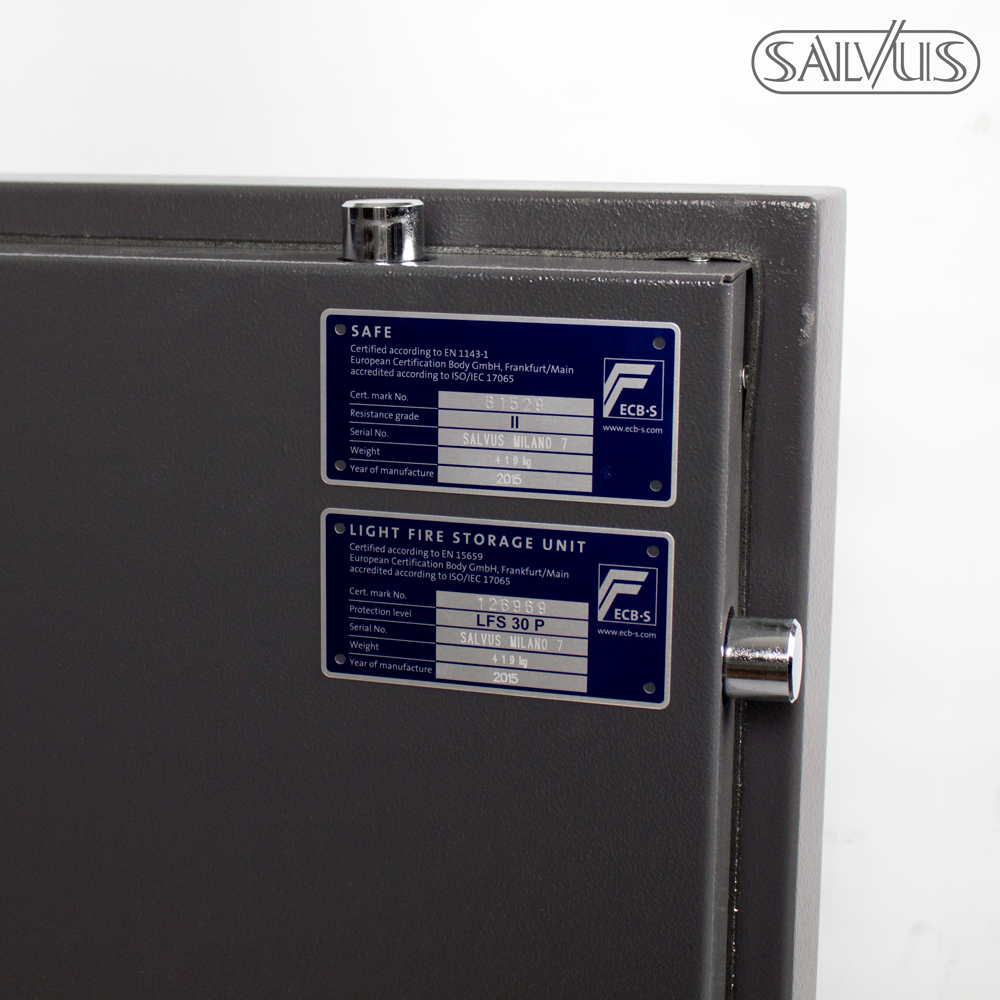 Salvus Milano 7 ECB-S labels