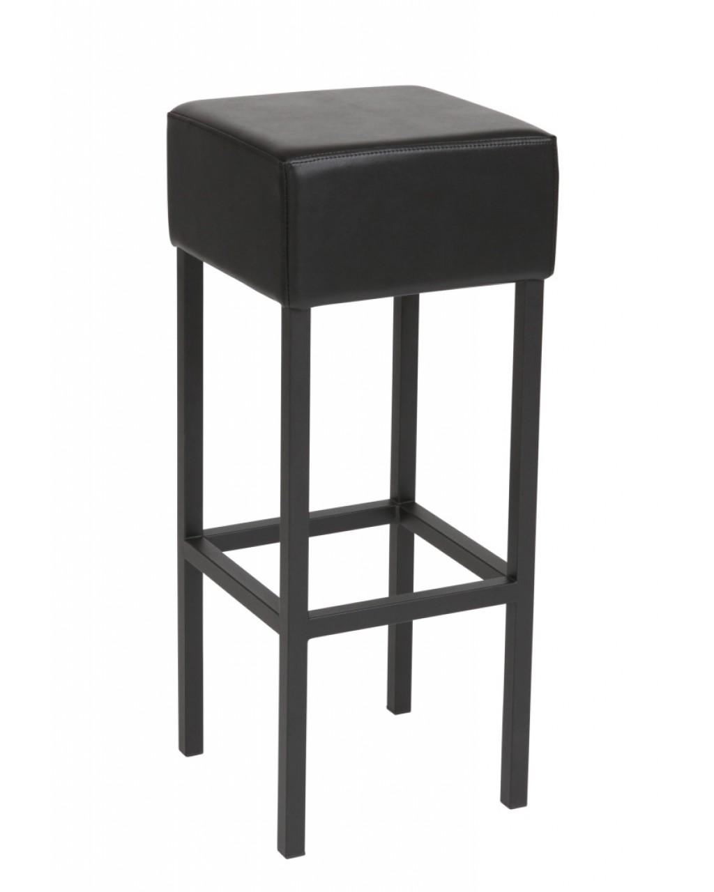 Barkruk Cube Zwart / Zwart