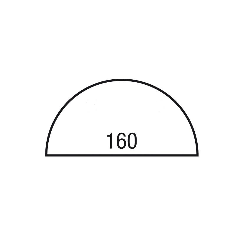 Tekening Halfrond blad 160x80 cm