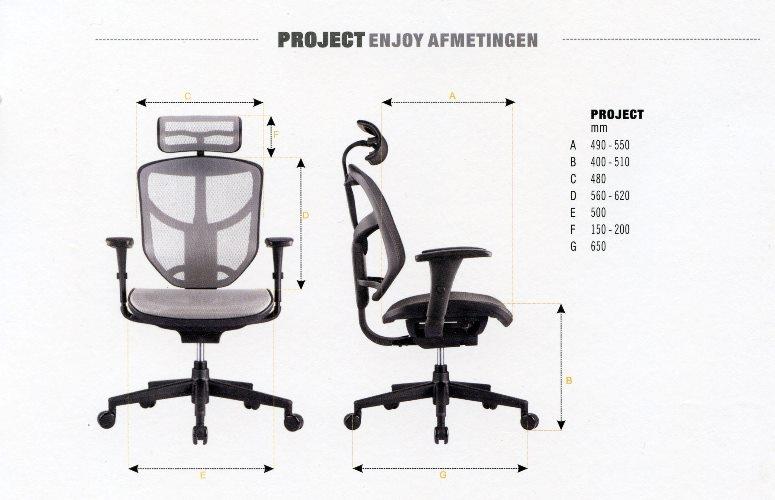 Project Enjoy Afmetingen
