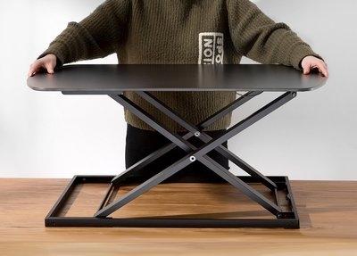 Ultra Slim Standing Desk Zwart 2
